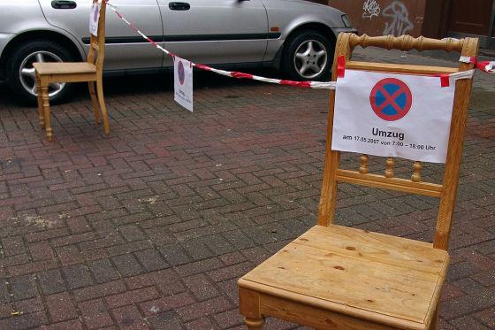 Parklücke frei halten