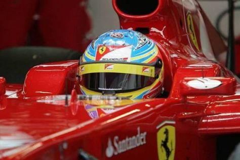 Fernando Alonso ist trotz Zwangspausen mit den Tests bisher zufrieden