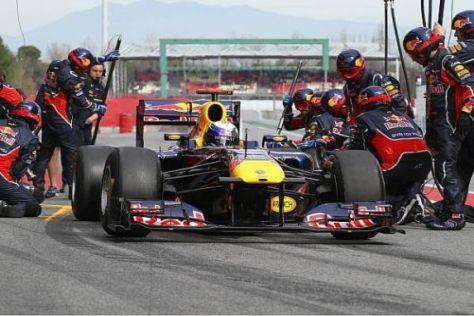 Sebastian Vettel und seine Crew platzierten sich am Samstag wieder auf Rang eins