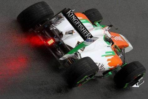 Adrian Sutil zeigte sich von den Pirelli-Regenreifen anfangs überrascht