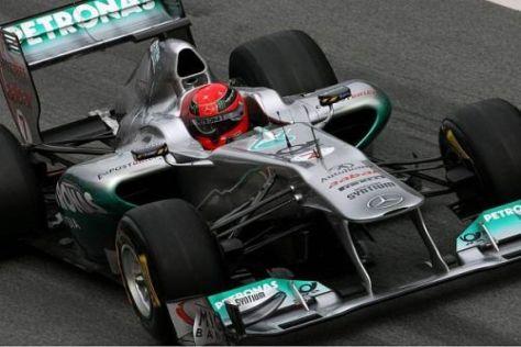 Michael Schumacher spulte am Montag in Barcelona eine Grand-Prix-Distanz ab