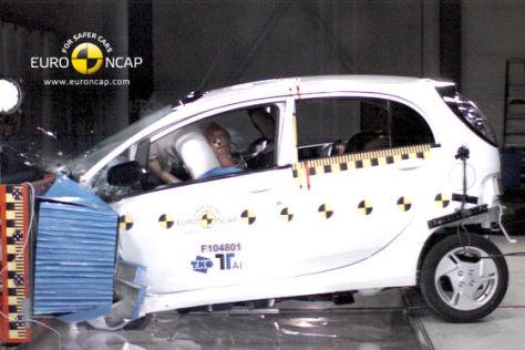 Euro NCAP Crashtest Mitsubish i-MiEV