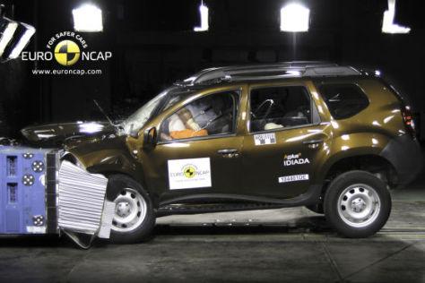 Dacia Duster im Euro NCAP-Crashtest