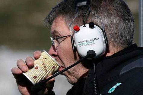 Ross Brawn lässt sich von den bisherigen Testzeiten nicht beunruhigen