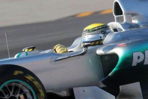 Nico Rosberg hat gestern den neuen Mercedes-Simulator eingeweiht