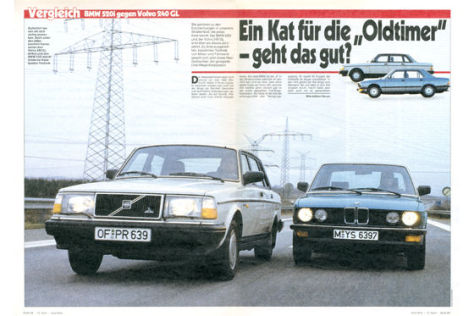 BMW 520i gegen Volvo 240 GL