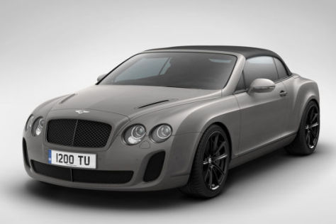 Bentley Continental Supersports Covertible Ice Speed Record