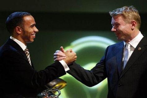 Bald auch im Management Hand in Hand? Lewis Hamilton und Mika Häkkinen