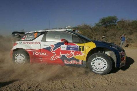 Sebastien Loeb hat sich bei der Rallye Mexiko knapp an die Spitze gesetzt