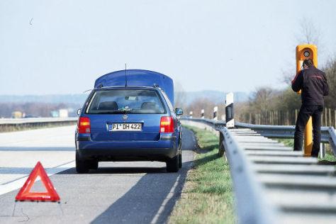 Panne auf der Autobahn