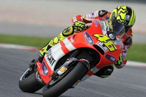 Valentino Rossi ist fest entschlossen, mit Ducati zum Erfolg zu kommen