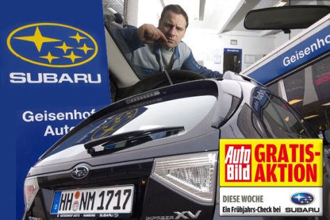 AUTO BILD Gratis-Aktion Frühjahrscheck Subaru