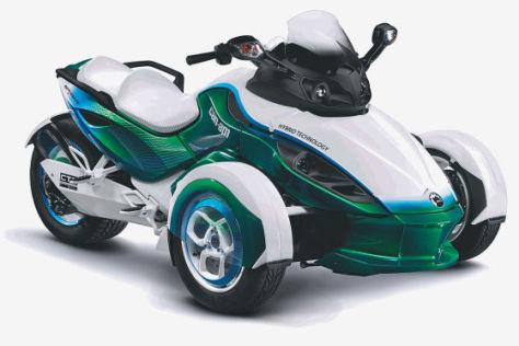 Can-Am Spyder mit Hybrid