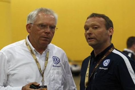 Volkswagen-Vorstand Ulrich Hackenberg mit Sportchef Kris Nissen