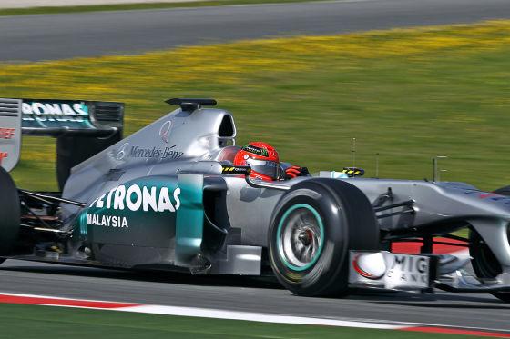 Michael Schumacher Mercedes GP W02