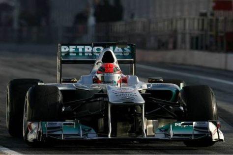 Michael Schumachers Vormittags-Bestzeit wurde nicht mehr unterboten