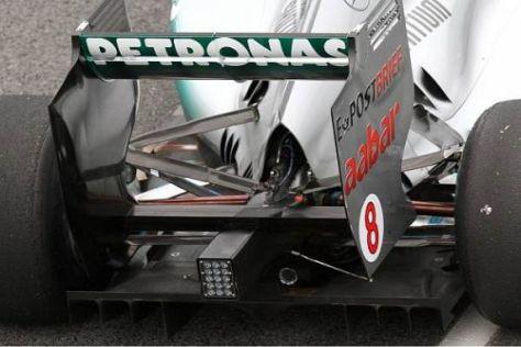 Das Heck des neuen Mercedes MGP W02: An der Grenze des Machbaren