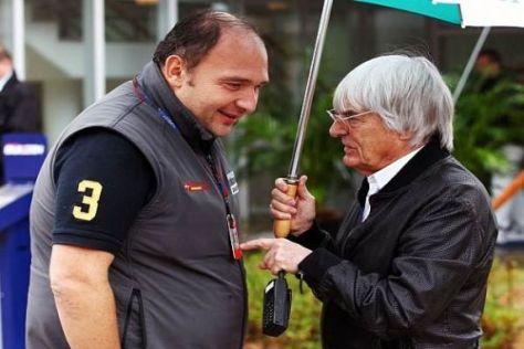 Bernie Ecclestone und Colin Kolles: Beide könnten mit nur zehn Teams leben