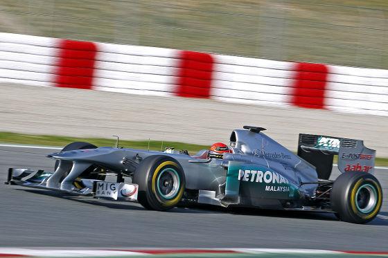 Michael Schumacher im Mercedes GP W02