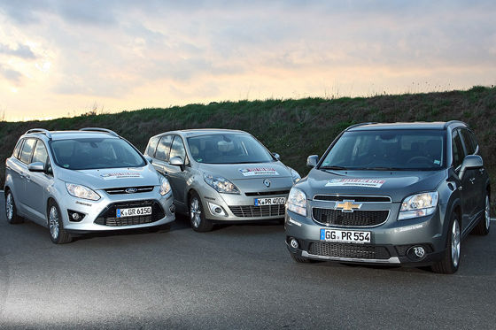 Video: Chevrolet Orlando, Ford Grand C-Max, Renault Grand Scénic