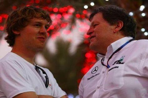 Sebastian Vettel und Norbert Haug werden vorerst nicht zusammenarbeiten