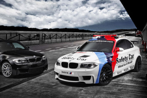 BMW 1er M Coupé als Safety Car in der Moto GP 2011