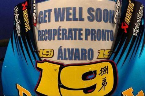 Das Suzuki-Team wünschte Alvaro Bautista schon in Doha gute Besserung