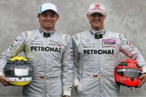 Nico Rosberg und Michael Schumacher strahlen derzeit viel Zuversicht aus