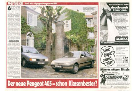 Audi 80 1.8 S gegen Peugeot 405 SRI