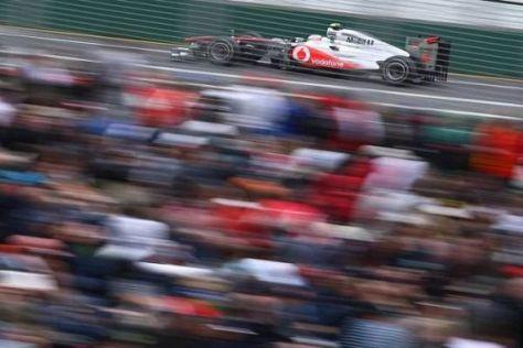 Jenson Button hatte im Qualifying Verkehr, wurde aber trotzdem Vierter