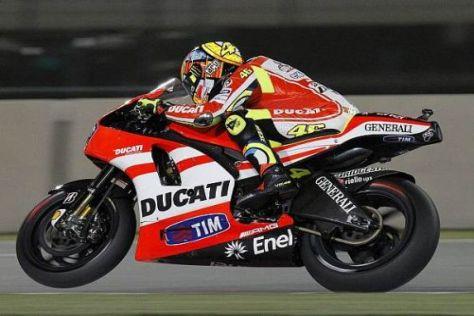 Die Desmosedici GP11 soll nicht nur für Rossi bald einfacher zu fahren sein