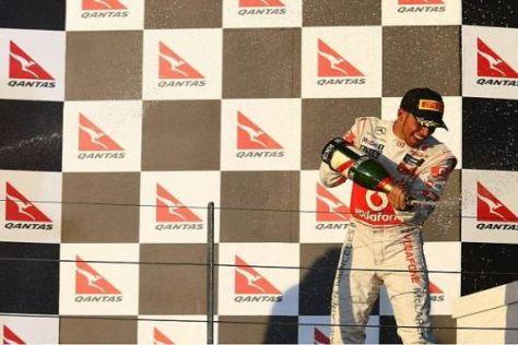 Lewis Hamilton jubelte über Rang zwei beinahe wie über einen Sieg