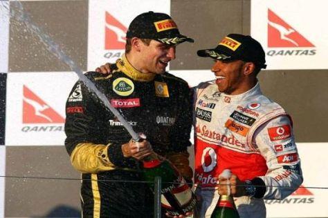 """Witali Petrow mit Lewis Hamilton: """"Schön, hier zu sein!"""""""