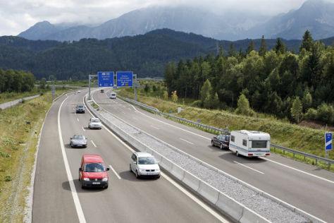Freie Fahrt auf der Autobahn