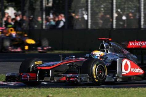 Schon in Sepang möchte Lewis Hamilton die Nase vor Red Bull haben