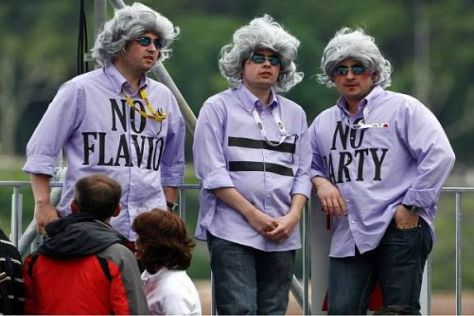 Flavio Briatore kommt bei einigen Fans immer noch sehr gut an