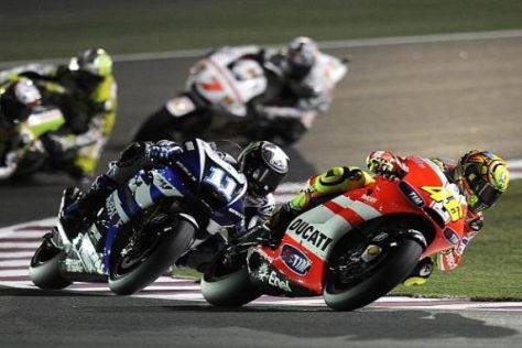 Katar: Ben Spies konnte die Fahrtechnik von Valentino Rossi studieren