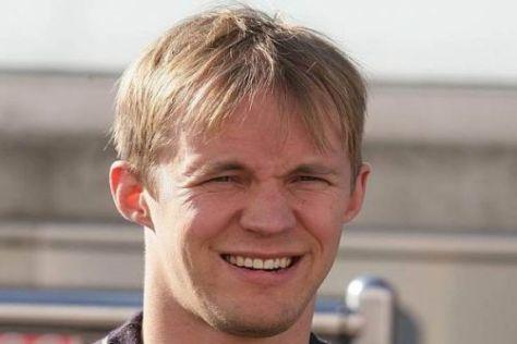 Mattias Ekström zeigte sich bei der Pressekonferenz in Wiesbaden gut gelaunt