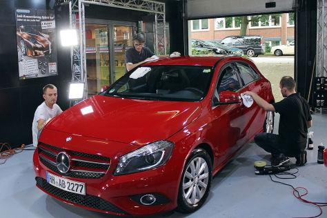 Vorher/nacher: Auto bei der Aufbereitung
