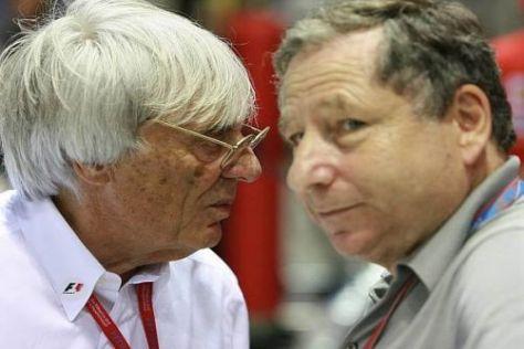 Bernie Ecclestone und Jean Todt kämpfen derzeit mit harten Bandagen
