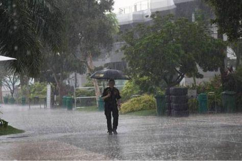 Vorgeschmack: Schon heute gab es in Sepang monsunartige Regenfälle