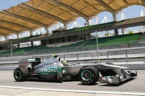 Nico Rosberg erkannte gute Fortschritte mit dem Mercedes MGP W02