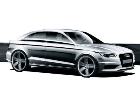 Skizze Audi A3 Limousine