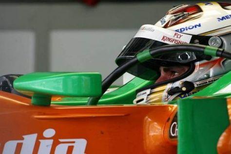 Adrian Sutil kämpfte in der Qualifikation mit Problemen beim Schalten