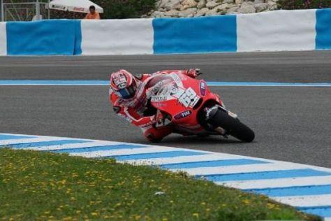 Nach langem Warten konnte Nicky Hayden auf die neue GP12 steigen