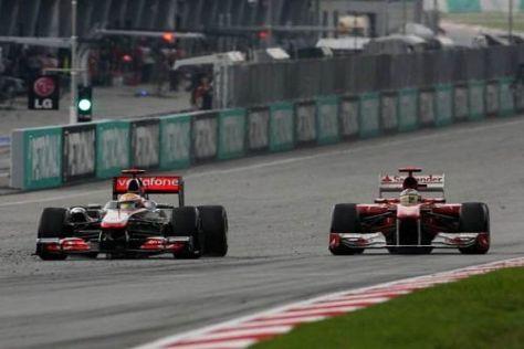 Lewis Hamilton und Fernando Alonso gerieten in Sepang erneut aneinander