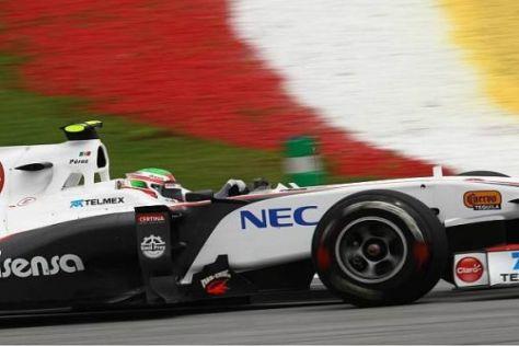 Sergio Perez war bis zu seinem Ausfall ebenfalls auf einer Zweistopp-Strategie