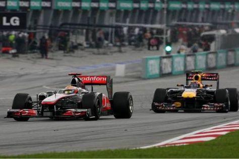 Lewis Hamilton will die Red-Bull-Truppe auch in Schanghai unter Druck setzen