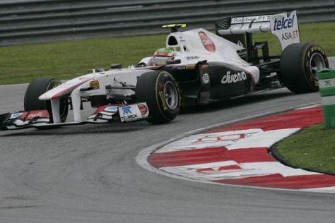 Sergio Perez wird in Schanghai mit enem ganz neuen Sauber C30 fahren