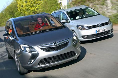 Opel Zafira Tourer VW Touran